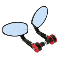 "New Moto 7/8"" Bar End Grip Rearview Mirror For Yamaha"