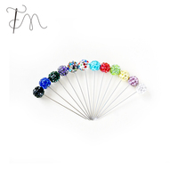 Color Pearl Head Straight Pins Aart Craft Pin For Cloth Doll