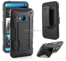 Kickstand shockproof case skin cover for HTC one M7