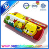Back to school stationary cartoon design pencil case with pen holder inside
