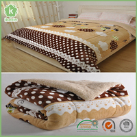 Brushed Smooth Custom Printing Bed Quilt