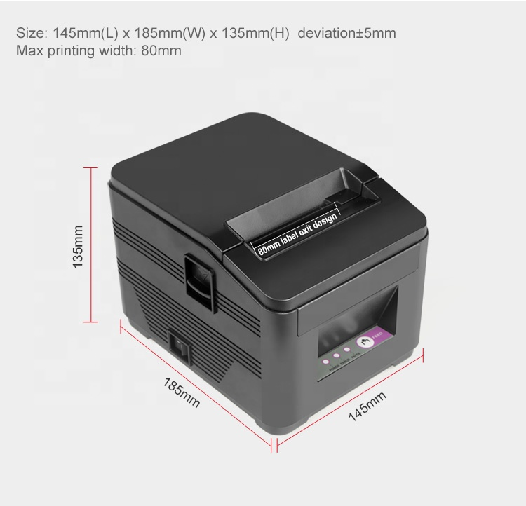 Hot sale cheap 80mm airprint thermal printer direct ticket printer receipt partial cutter pos printer