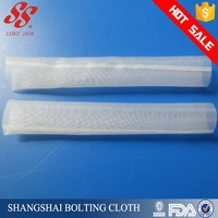 sewing nylon polyester wire mesh filter tube, 300 micron filter mesh, hot melt mesh tube for filter