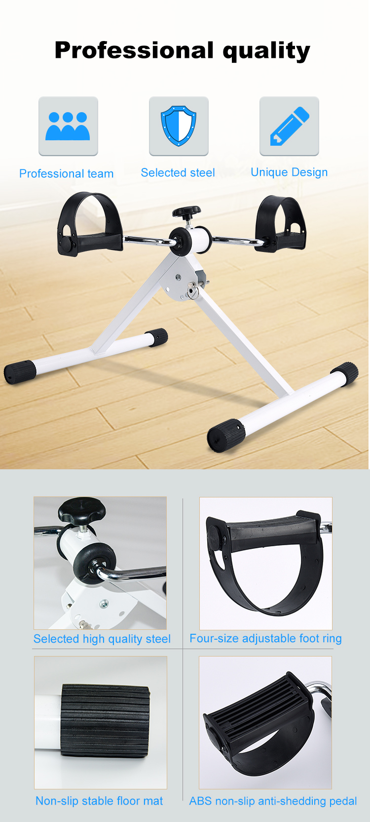 Pedaal sporter arm en been bureau cycle bike peddler mini hometrainer