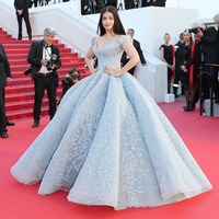 MGC001 Bollywood superstar Aishwarya Rai Princess Ball Gown Cannes Film Festival red carpet Celebrity Dress