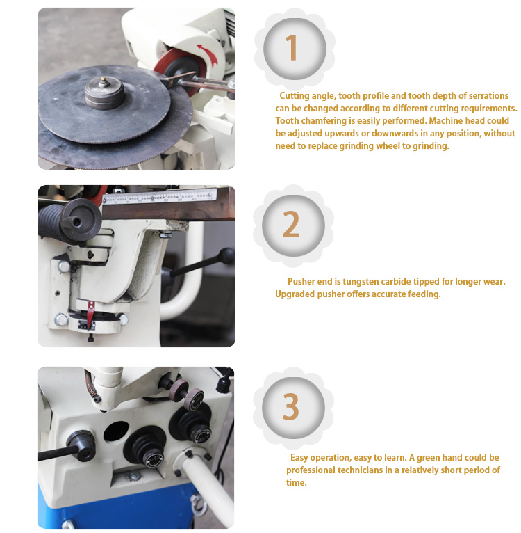 China manufacturer high speed hss circular cold blades saw automatic sharpening grinding and polishing machine for balde teeth