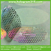 Custom logo 3d honeycomb void pattern hologram sticker