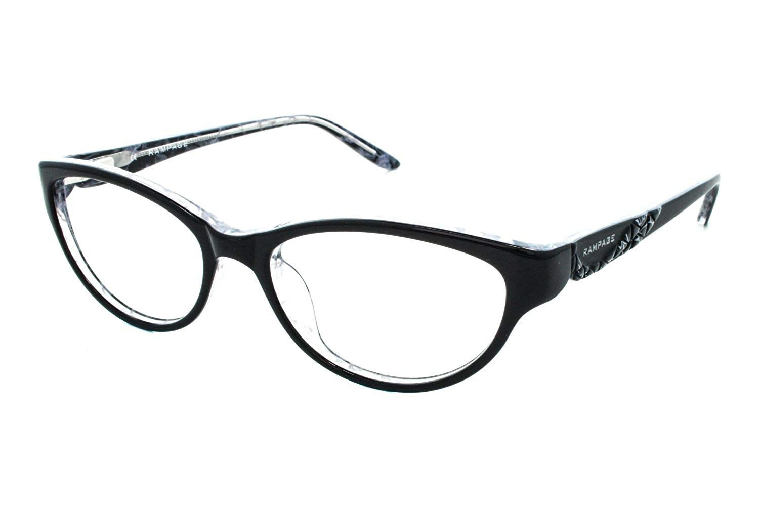 2872c4ef786da Get Quotations · RAMPAGE Eyeglasses R 178 Black White 51MM