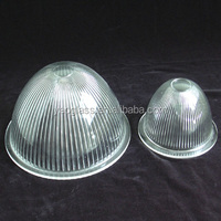 customized outdoor signal clear blown glass dome light cover& globe lampshade