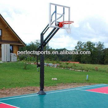 In-Ground Basketball System with Glass Backboard