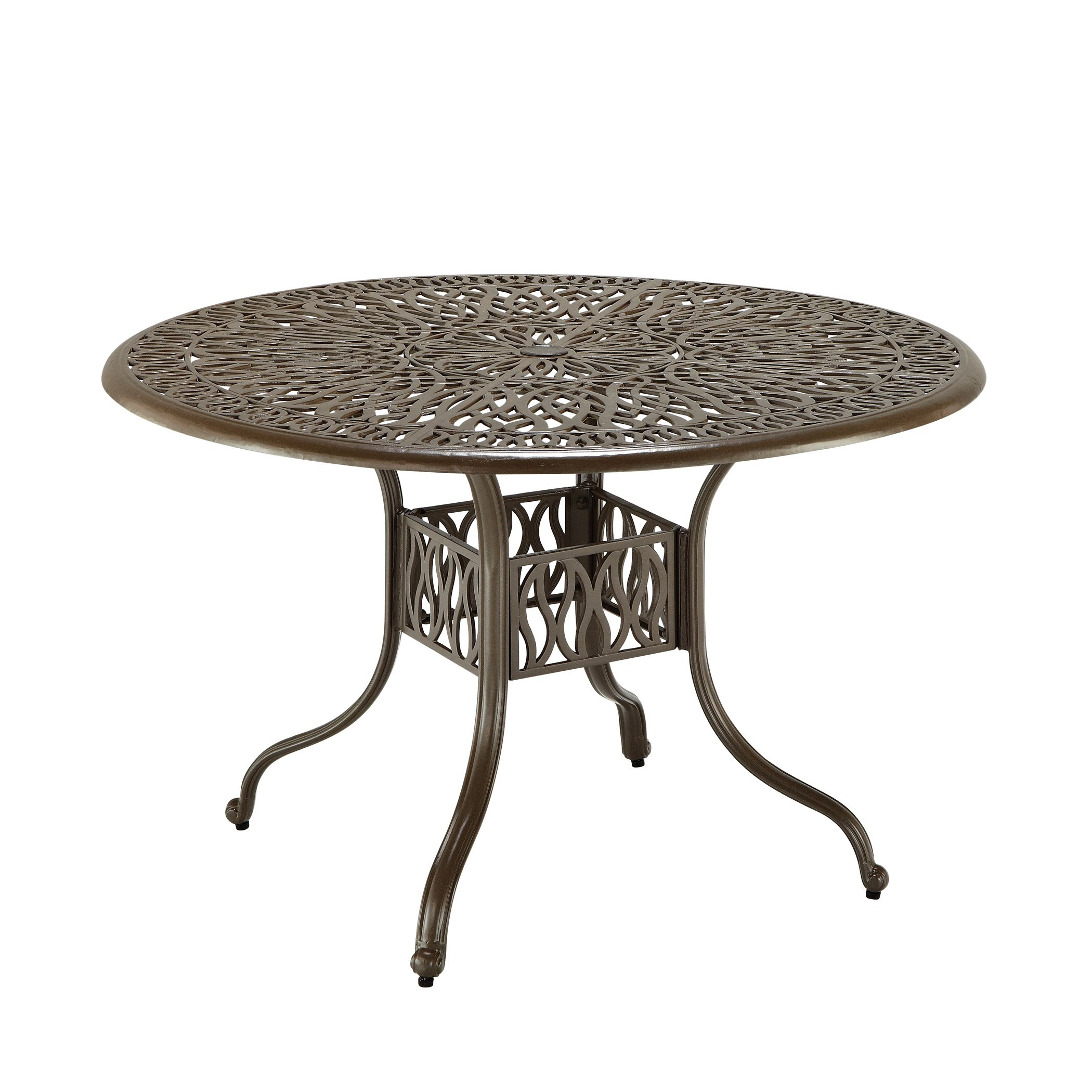 Home Styles 5559-30 Floral Blossom 42-Inch Round Dining Table