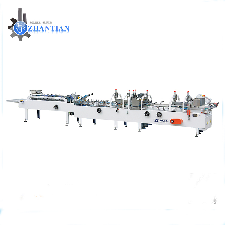 ZH-900D New design high quality crash lock bottom folder gluer for box making