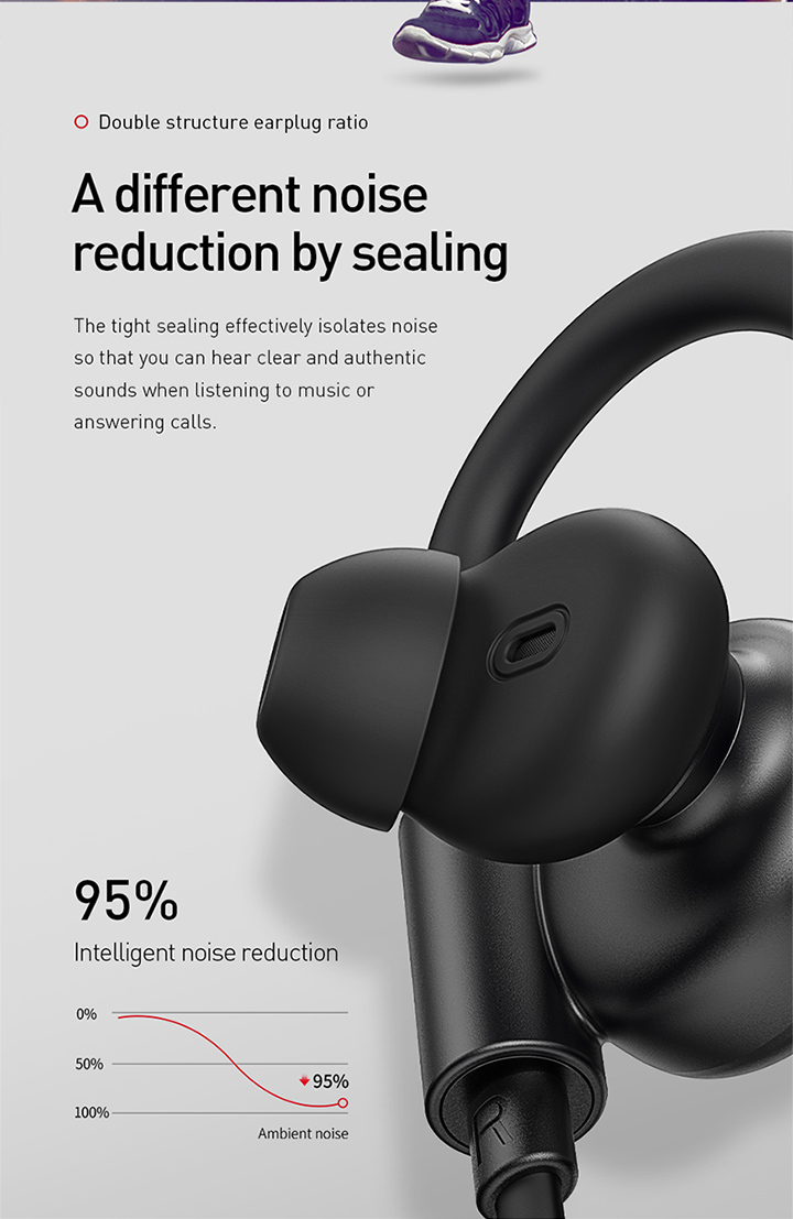 Baseus New Arrival Encok S17 Sport Earphone Wireless BV5.0 Earphone & Headphone