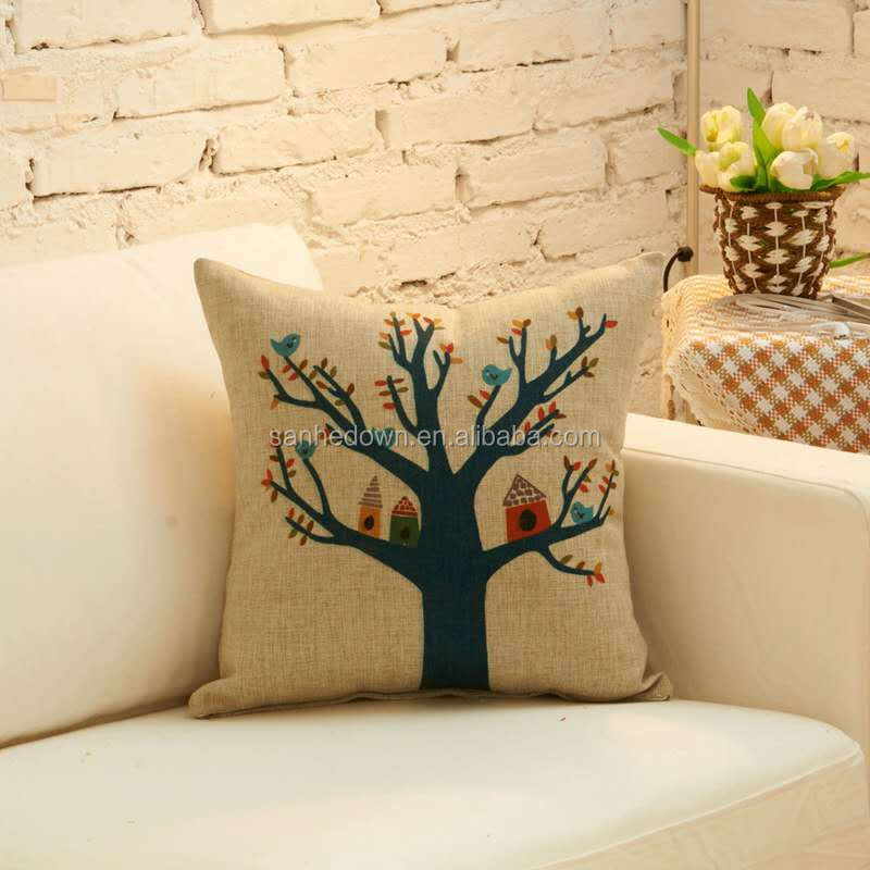 Wholesale digital print decorative cushion cover, pillow pillowcase on the chair