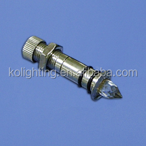 fiber optic light end fixture with crystal and stainless steel cover for optic fiber light kit