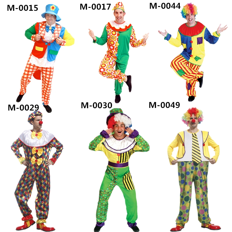 Hot Koop Fancy Dress Stage Kostuum kinderen En Volwassen Fancy Clown Circus Halloween Kostuum