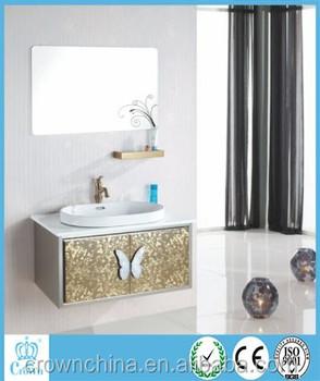 Eco Friendly Waterproof Customized Mdf Bathroom Vanity Customized Mdf Bathroom Cabinet Ss