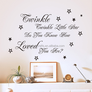 Le Little Star Nursery Rhyme Wall Sticker For Kids Room Boy Bedroom Decal