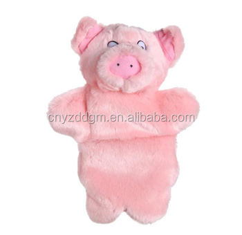 Kids Lovely Animal Plush Hand Puppets Childhood Soft Toy Pink Pig Shape Story Pretend Playing Dolls Gift for Children