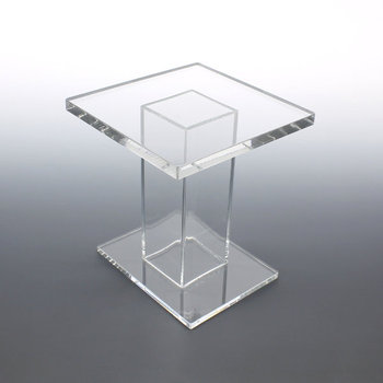 Clear Plastic Coffee Table, Cheap Square Acrylic End Table , Living Room  Table Furniture