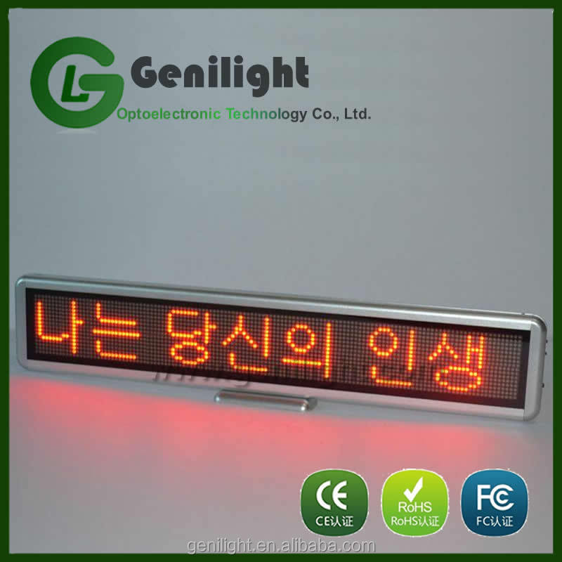 Wholesale Red desk Led display for ad