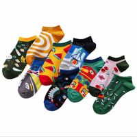 cheap polyester cotton Ankle custom men women Socks