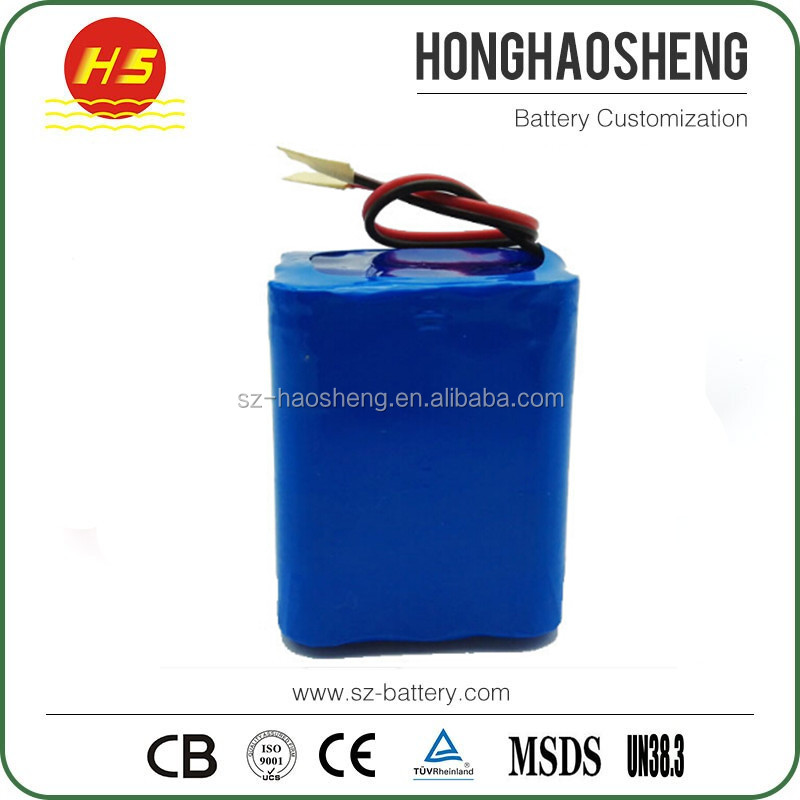 Factory price 18650 3S3P 3000mAh cells lithium 12v 9ah li-ion battery pack