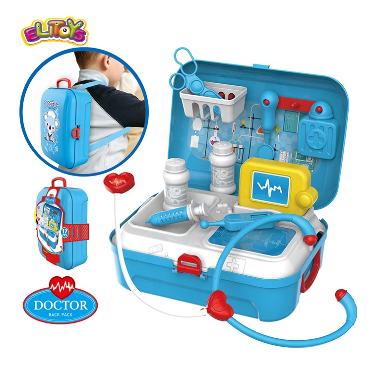 Hot selling medical kit pretend doctor play set toys in backpack