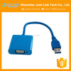 Just Link hot sales USB3.0 to VGA cable Multi-display Graphic converter adapter USB to PC