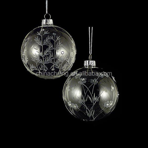 Bulk Christmas Ornaments Balls: 100 Wholesale Clear Glass Christmas Ball Ornaments