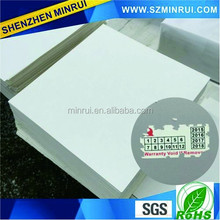 Wholesale Supplier Tamper Proof Security Adhesive Label Blank Vinyl Eggshell Sticker Material
