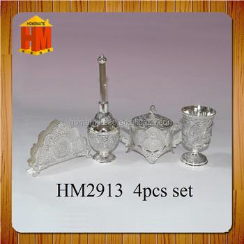 Zinc Alloy Algeria Napkin Holder/cup/sugar Pot/perfume Bottle 4pcs ...