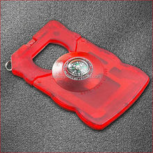 2014 Multi Tool Survival Pocket compass Credit Card with led lighter