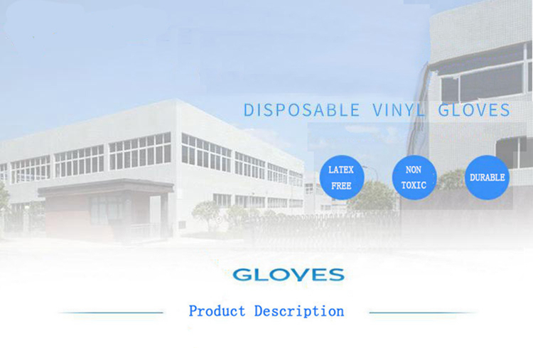 Hot selling blue Disposable vinyl pvc powder free examination gloves for Beauty Salon