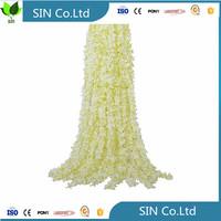 china 13 Feet 14pcs Split Joint Wisteria Silk Vine Artificial Cattleya Hydrangea Flowers Plants For Home Hotel Office Wedding