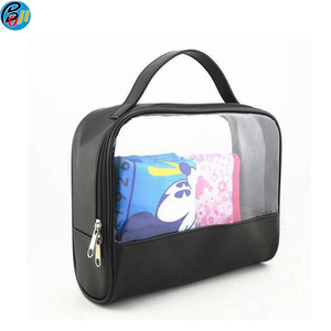 Customize travel hanging clear PVC makeup toilet toiletry bag pouch