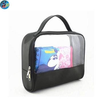 8b4ce280f Personalizar viajes colgar de maquillaje PVC transparente aseo neceser bolsa