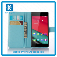 [kayoh]Flip Magnet PU Leather Card Slot Stand Feature Phone Case For Wiko Pulp 4G, Leather PU Back Cover For Wiko