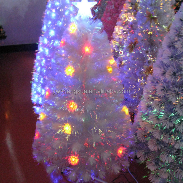 fiber optic outdoor party decorations led lighted star christmas tree