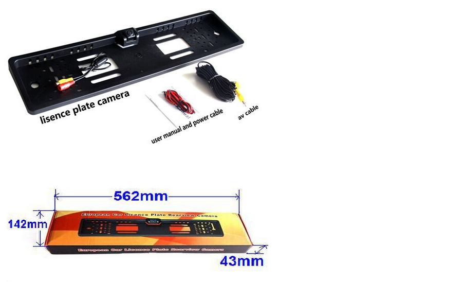 CE ROHS plate license backup camera for EU car license plate recognition camera