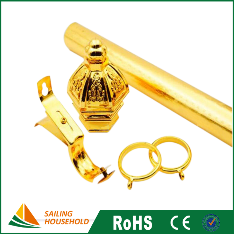Hot selling curtain rod parts, wholesales curtain finials and rods, single curtain rods