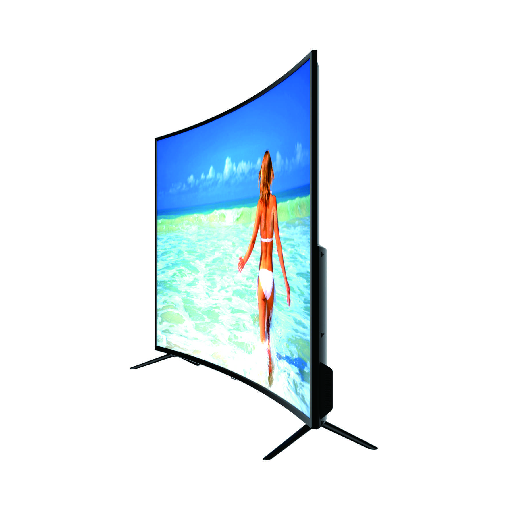 MOQ 2 Pieces Curved 55inch 4k smart <strong>TV</strong>