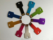 Colorful customized logo Key shape usb flash drive, metal key usb, promotional gift usb key