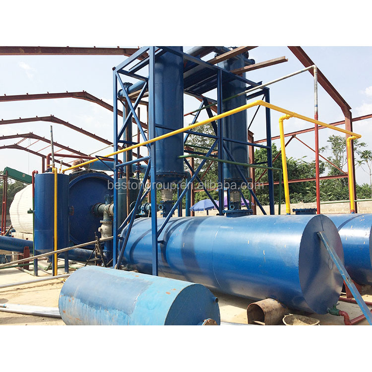 Factory sale small waste plastic rubber pyrolysis plant for sale