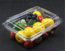 clear plastic fruit and vegetable container/ clear fruit packaging box