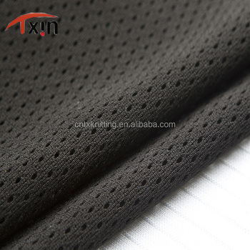 Tongxin Textile heat resistant mesh fabric polyester heavy duty stiff mesh fabric for basketball wear