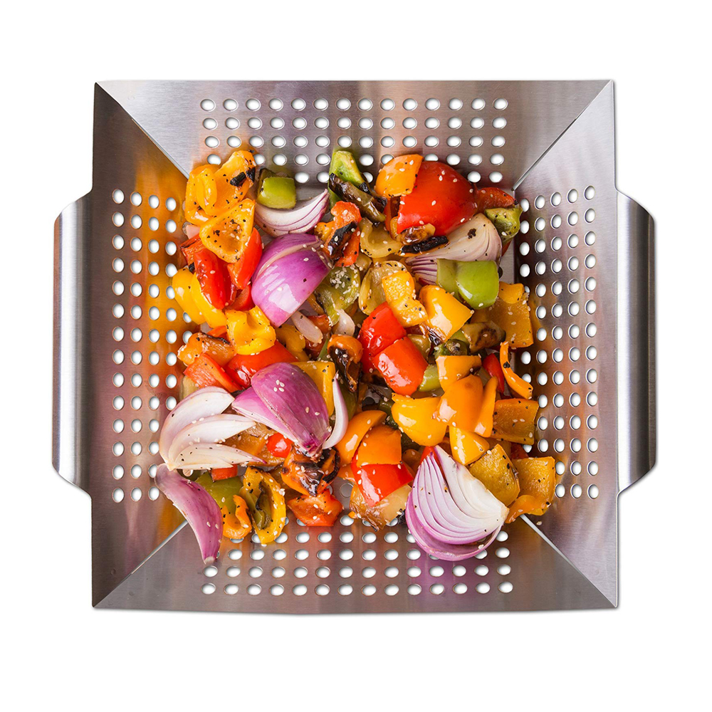 Heavy Duty Stainless Steel Grilling Accessories Vegetable Grill Basket