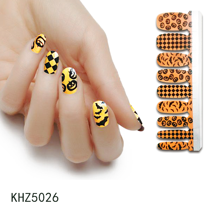 KIKILEE halloween <strong>nail</strong> <strong>stickers</strong> glowing in dark design