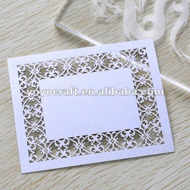 Hot sell! Laser cut wedding table place cards for party
