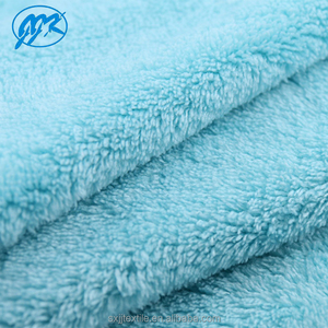 China factory 288F 100% polyester solid microfiber coral fleece material fabric for textile